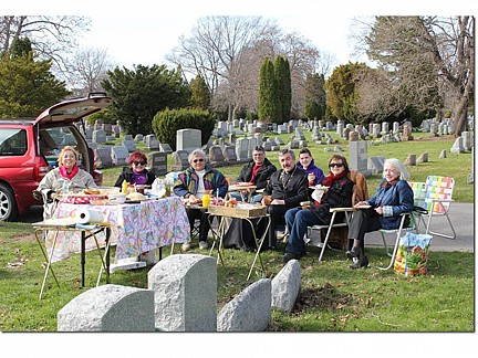 Easter Cemetery Visit - Gridley - Dzus - Kuscht - DeBole's - Fr. Igor