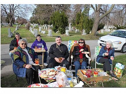 Easter Cemetery Visit Kuscht - DeBole's - Fr. Igor